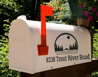 Trout Nature Mailbox Decal