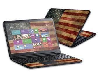 Mightyskins Protective Skin Decal Cover for Dell Inspiron 17 3721 Laptop 17 Released 2013 wrap sticker skins Vintage Flag