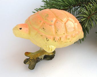 Turtle, Rare Soviet Christmas tree decoration, Animal, Glass Christmas ornament, Rare, New Year, Russian Toy, USSR, Soviet Union, 1950s