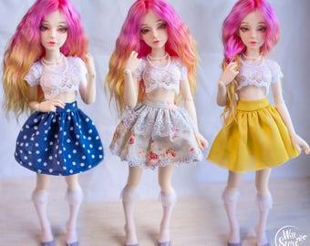 3 styles skirts for Minifee BJD doll MSD