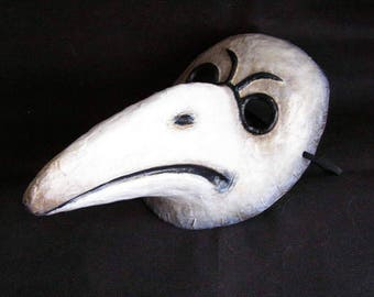 Masquerade mask Raven mask Crow mask Plaque Doctor mask Halloween mask Adult mask Scary mask