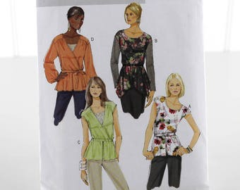 Easy Pullover Top Sewing Pattern, Uncut Sewing Pattern, Butterick B5709, Size 8-16