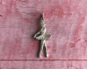 Sterling Silver Ballerina Pendant Charm 2g