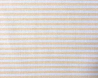 Cotton canvas, striped White and vanilla