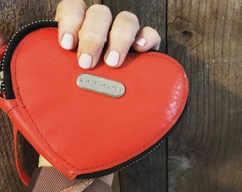 Red Heart coin purse - Valentines Eco Chic Favorite