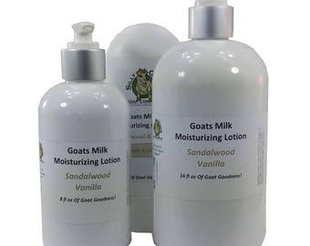Sandalwood Vanilla Goat Milk Lotion, Sandalwood Lotion, Vanilla Lotion, Goat Milk Lotion, Lotion