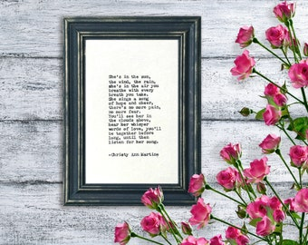 Loss of Mother - Typed Poem - Sympathy Gift for Loss of Mom or Dad Memorial Gift - He's or She's in the Sun Poem