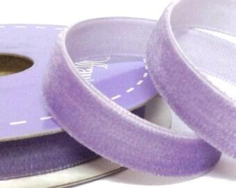 Lilac Velvet Ribbon ~ 9mm