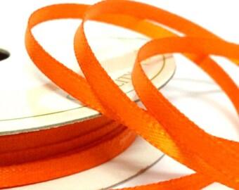 6mm Pumpkin Satin Ribbon