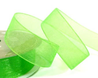 15mm Green Organza Ribbon