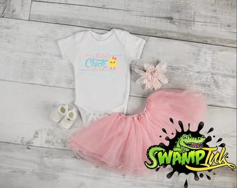 Baby Girl Easter Bodysuit Cutest Chick Ever