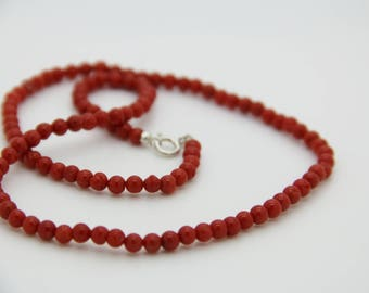 Red coral necklace Corsica authentic certifiė cc77