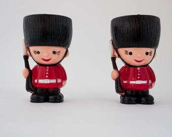 Vintage British Royal Guards plastic egg cups