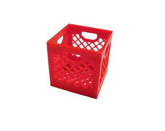 Miniature Milk Crate Desktop Business Card Holder
