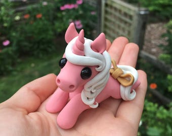 RESERVED Mini Pink Unicorn- Mystic