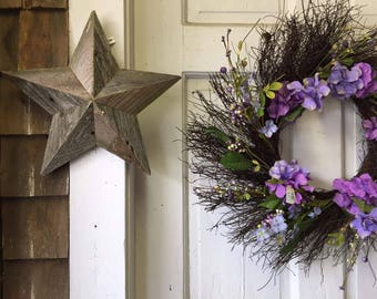 12 inch wooden star made from reclaimed wood