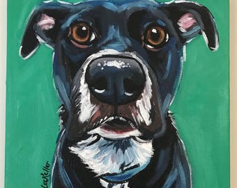 Custom Pet portrait, custom dog painting, custom dog portrait, Expressive / Impressionistic Style , Custom pet painting, custom dog art