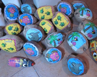Custom Painted Coconuts