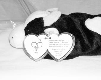 """RARE! Ty Beanie Baby Special In Memory Of Harry Caray/ """"Daisy The Cow""""/Special Harry Carey Hang Tag!!Give Away At Special Cubs Game!"""