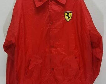 MEGA SALE 25% Vintage 1996 Ferrari jacket fomula one buttons down snapon buttons race