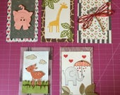 Animal baby shower invitations with matching thank-you notes