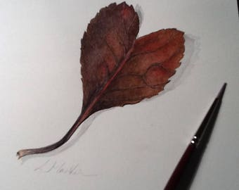 Single Leaf - Watercolour painting