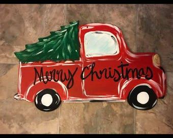Christmas tree truck door hanger