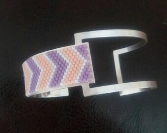 Cuff Bracelet peyote stitch asymmetrical