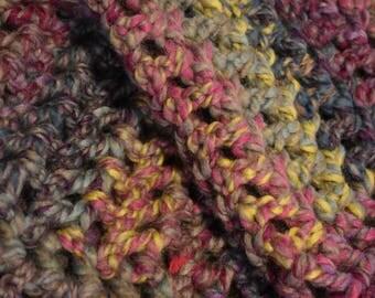 Rainbow & Gray Crochet Dog Mat -- Super Soft Wool Blend, Machine Washable Pet Blanket