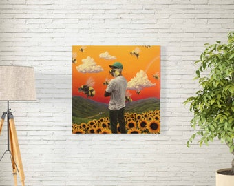 "Tyler The Creator Poster - Flower Boy Album Cover - Tyler Gregory Okonma Rapper - Hip Hop Art Music Print -12x12"" 18x18"" 24x24"" 32x32"""