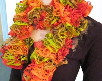 Bohemian scarf lace ruffles