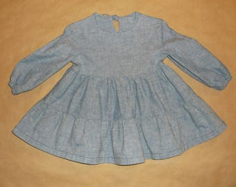 Girls Chambray dress size 12 months
