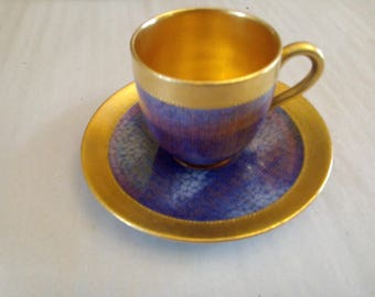 beautiful Mocha Cup 1950 English Coalport hand