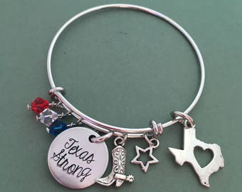 SUPPORT HURRICANE HARVEY Victims - Texas Strong Bracelet