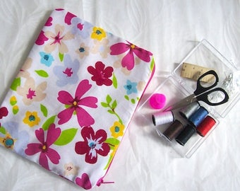 sewing travel kit sewing kit pink floral mini sewing bag pink flower sewing kit