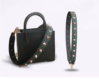 7 colors Leather Stud Bag Strap rivet Strap Removable Strap for Bag and Purses Interchangeable Strap WD024