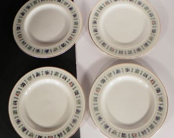 Royal Doulton Tapestry Salad or Dessert Plate (s) LOT OF 4 Fruit Flowers