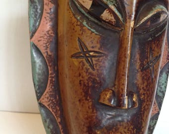 FREE SHIPPING - Vintage African Tribal Mask - Wall Decor - Artifact #6