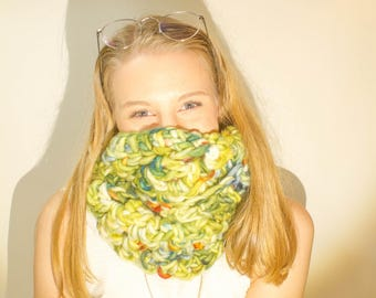 Super Chunky Scarf – Luxurious Layers Collection – Crochet Cowl – Super Chunky – Made to Order