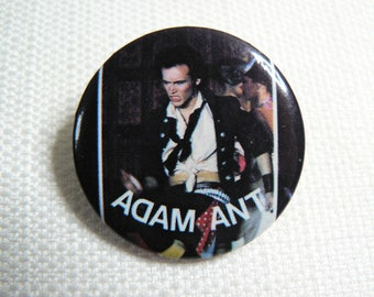 Vintage 80s Adam Ant - Adam and the Ants - Pin / Button / Badge (Date Stamped 1983)