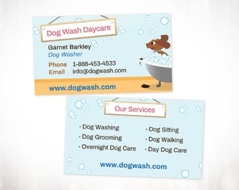 Premade Business Card Design • Dog Wash Daycare