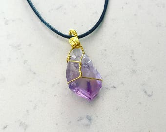 Gold & Silver Wire-Wrapped Crystal