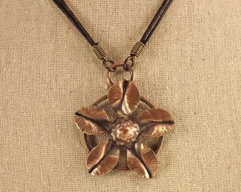 Five Petal Flower Pendant