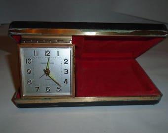 Travel Clock. Phinney Walker clock. Vintage travel clock