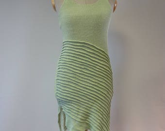 The hot price, light green linen tunic, S size.