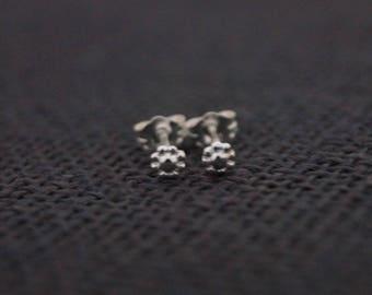Sterling Silver Earrings - Silver Stud Earrings - Handmade Sterling Silver Daisy Earrings - Small Stud Earrings - Silver Flower Earrings