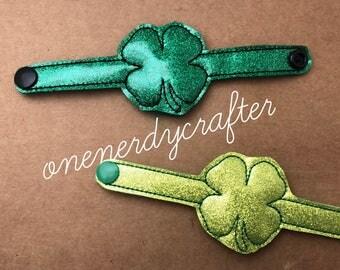 Flashing St Patricks Day Clover Bracelets