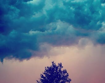 The Coming Storm, Clouds, Trees, Thunderstorm, Instant Download, Digital Photography