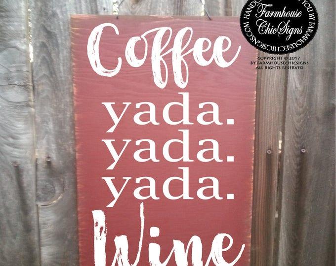 coffee sign, coffee decor, coffee blah blah blah, coffee sign rustic, coffee sign kitchen, coffee sign wood, coffee decor kitchen