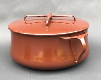 8 Qt.Brown Dansk Kobenstyle Enamel Pot with Lid -France